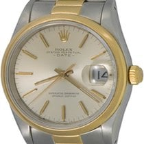 Rolex Oyster Perpetual Date 34mm Silver No numerals