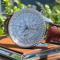 Breitling Montbrillant Datora usado 43mm Branco Cronógrafo Data Indicação dos dias da semana Indicação dos meses