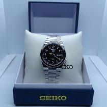Seiko 5 Сталь 34mm Черный Aрабские