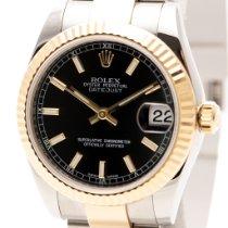 Rolex Lady-Datejust Gold/Stahl 31mm Schwarz