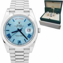 Rolex Day-Date 40 Platinum 40mm Blue Roman numerals United States of America, New York, Massapequa Park