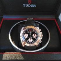 Tudor Sport Chronograph Acero Negro Sin cifras