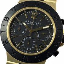 Bulgari Diagono Yellow gold 38mm Black Arabic numerals