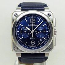 Bell & Ross BR 03-94 Chronographe новые Автоподзавод Хронограф Часы с оригинальными документами и коробкой BR0394-BLU-ST/SCA
