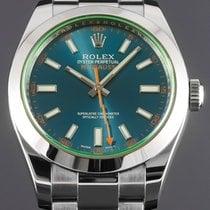 Rolex Milgauss Acero 40mm Azul Sin cifras