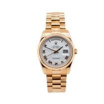 Rolex Day-Date 36 Rose gold 36mm White Roman numerals