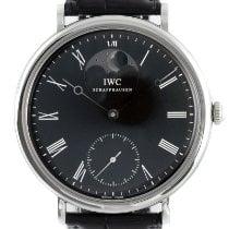 IWC Portofino Hand-Wound Otel 46mm Negru