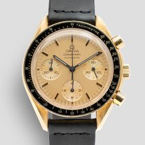 Omega Yellow gold Automatic Gold No numerals 39mm pre-owned Speedmaster Reduced