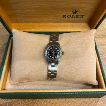 Rolex White gold Automatic Black 26mm pre-owned Oyster Perpetual