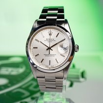 Rolex Oyster Perpetual Date Steel 34mm Grey No numerals