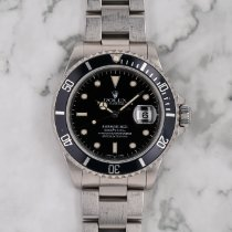 勞力士 Submariner Date 16610 非常好 鋼 40mm 自動發條