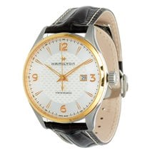Hamilton Jazzmaster Viewmatic pre-owned 44mm Silver Date Leather