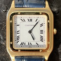 Cartier Yellow gold Manual winding White Roman numerals 27mm pre-owned Santos Dumont
