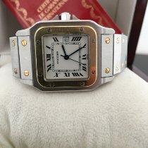 Cartier Santos Galbée Gold/Steel White