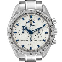 Omega Speedmaster Professional Moonwatch Moonphase pre-owned 42mm White Moon phase Chronograph Date Tachymeter Steel