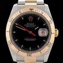 Rolex Datejust Turn-O-Graph Oro/Acciaio 36mm Nero Senza numeri