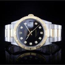 Rolex Datejust Turn-O-Graph Acero y oro 36mm Negro Sin cifras