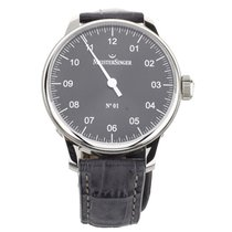 Meistersinger pre-owned Automatic 43mm Black Sapphire crystal 5 ATM