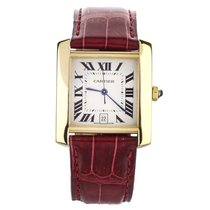 Cartier Yellow gold Automatic Silver 28mm pre-owned Tank Française