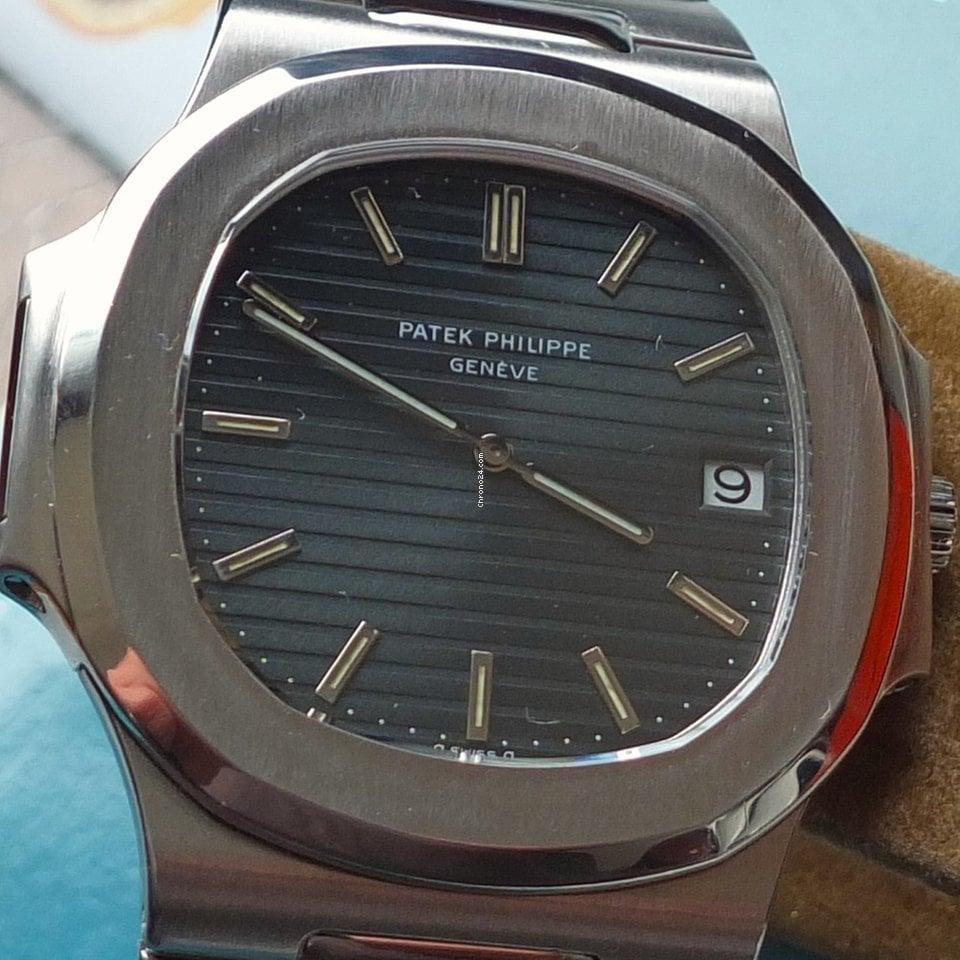 "Patek Philippe Nautilus 3700/11 PP Nautilus Steel ""Sigma Dial""+ orig.Korkbox 1983 neu"