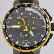 Tissot T-Race Cycling Steel 44mm Black No numerals