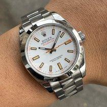 Rolex Milgauss Acciaio 40mm Bianco Senza numeri Italia, Eur (RM)