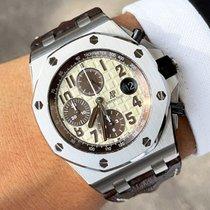 Audemars Piguet Royal Oak Offshore Chronograph Acciaio 42mm Bianco Arabi Italia, Eur (RM)