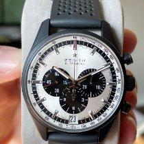 Zenith Aluminum Automatic Silver No numerals 42mm pre-owned El Primero Chronomaster