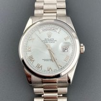 Rolex Platinum Automatic Blue 36mm pre-owned Day-Date 36