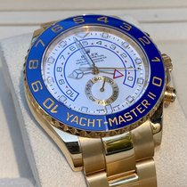 Rolex Yacht-Master II Gelbgold 44mm Weiß Keine Ziffern Deutschland, Koblenz