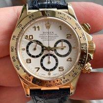 Rolex Daytona tweedehands 40mm Wit Chronograaf Leer