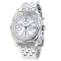 Breitling Chrono Cockpit pre-owned 39mm Mother of pearl Chronograph Date Tachymeter Steel