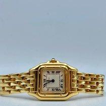 Cartier Panthère Gelbgold 22mm Weiß Römisch