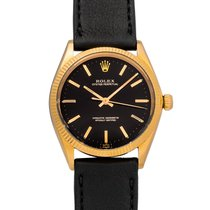 Rolex Rose gold Automatic Black No numerals 34mm pre-owned Oyster Perpetual 34