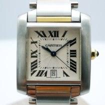Cartier Tank Française Gold/Steel 28mm White Roman numerals