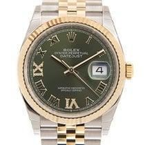 Rolex Datejust Gold/Steel 36mm Green