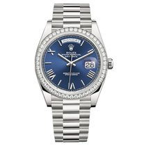 Rolex Day-Date 40 pre-owned 40mm Blue White gold