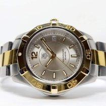 TAG Heuer Aquaracer 300M WAF1120 Satisfatório Ouro/Aço Quartzo