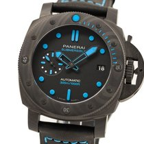 Panerai Plastic Automatic Black No numerals 42mm new Luminor Submersible