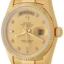 Rolex Day-Date 36 Желтое золото 35mm Цвета шампань Без цифр