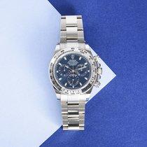 Rolex Daytona Or blanc 40mm Bleu