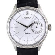 Rolex Cellini Date White gold 39mm Silver No numerals