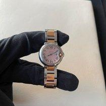 Cartier Ballon Bleu 28mm Золото/Cталь 28mm Розовый Римские