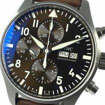 IWC Pilot Chronograph Aço 43mm Castanho Árabes