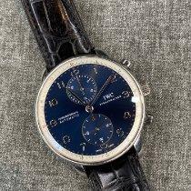 IWC Portuguese Chronograph Steel 41mm Blue Arabic numerals