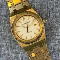 Audemars Piguet Yellow gold Automatic Champagne No numerals 33mm pre-owned Royal Oak
