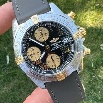 Breitling Chrono Cockpit pre-owned 39mm Black Chronograph Date Leather