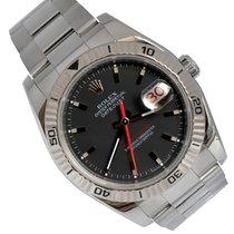 Rolex Datejust Turn-O-Graph usados 36mm Gris Fecha Acero