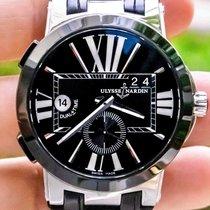 Ulysse Nardin Executive Dual Time Steel 43mm Black Roman numerals United States of America, Texas, Plano