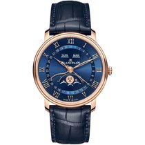 Blancpain Villeret Quantième Complet new Automatic Watch with original box and original papers 6654-3640-55B